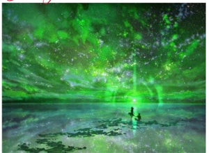 "5D diamond paintings - 1 only local stock ""Green Starry Sky"" Full Square"
