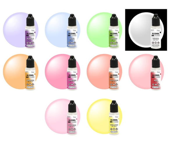 10 Fluro Alcohol Ink colours + 1 pack Black Yupo paper deal