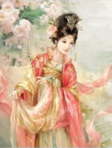 "5D Diamond Full Round Embroidery Painting ""Japanese Antique  Beauty"""