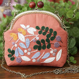 3D DIY Ribbon Embroidery Bag Set, Needlework Kits Chain Bag with Hoop