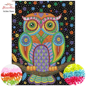 "Counted bead Cross-Stitching DIY Sets ""Owl"""