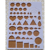 1PC Quilling Corkboard Template Paper-scrolling Filigree Mosaic