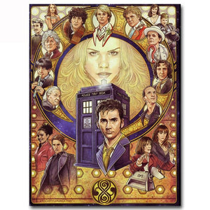 "5D diamond paintings - 1 only local stock ""Doctor Who - The Doctors"" full square"