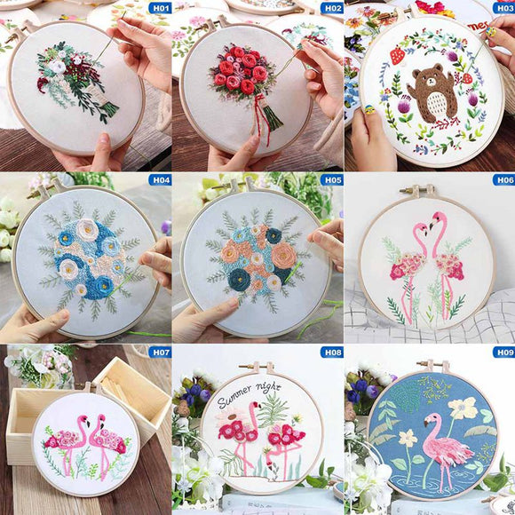 DIY Ribbon Embroidery Set  Needlework Kits 9 options