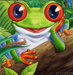 "5D Diamond Painting embroidery - Full Round /Square Drill ""Cartoon Frog""-Scrap n Patch"