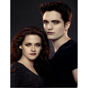 "5D DIY Diamond embroidery Painting Kits -Full Square / Round Drill ""Edward and Bella -Twilight"""