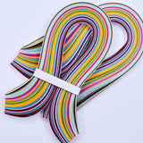 Assorted Mixed 36 Colors x 180Pcs Quilling Paper Width 3/5/7/10mm x 54cm