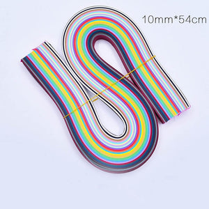 DIY Craft Colorful Quilling Paper 54cm x 260 Stripes 3/5/7/10mm Width 26 Colors