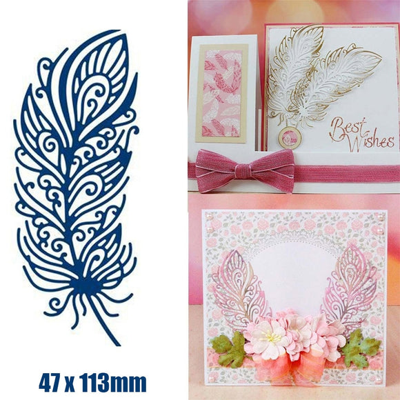 DIY Feather Metal Cutting Dies Scrapbooking Card Making