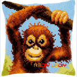 Cross stitch Embroidery pillowcase kits needlework sets - printed Animals set B