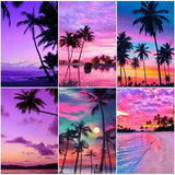 "5D DIY Diamond painting full round/ square drill ""Seaside sunsets"""