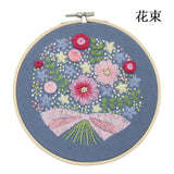 "DIY Embroidery Package Patterns Kits  Beginners kits 3 options - ""Flowers Patterns"""