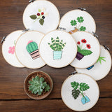 "DIY Embroidery Package Patterns Kits  Beginners kits 8 options - ""Flower & Plants"""