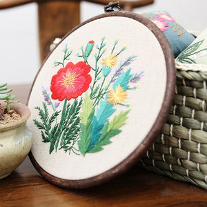 "DIY Embroidery Package Patterns Kits  Beginners kits 4 options - ""Plant Collections"""