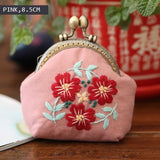 DIY Beginners Embroidery Flowers Bag/Purse Needlework kit 4 sizes