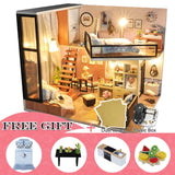DIY Doll House Wooden Doll Houses Miniature Bedroom living rooms - 13 options