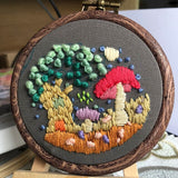 "Embroidery Kit with Hoop for Beginner ""Mini Flower Patterns"""