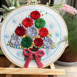 "DIY Embroidery Package Patterns Kits  Beginners kits 4 options - ""Flowers"""