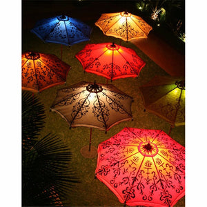 "5D DIY Diamond Painting Kits -Full Square / Round Drill ""Umbrellas lit up"""