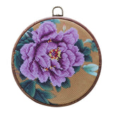 DIY Flower Cross Stitch with Hoop for Beginner
