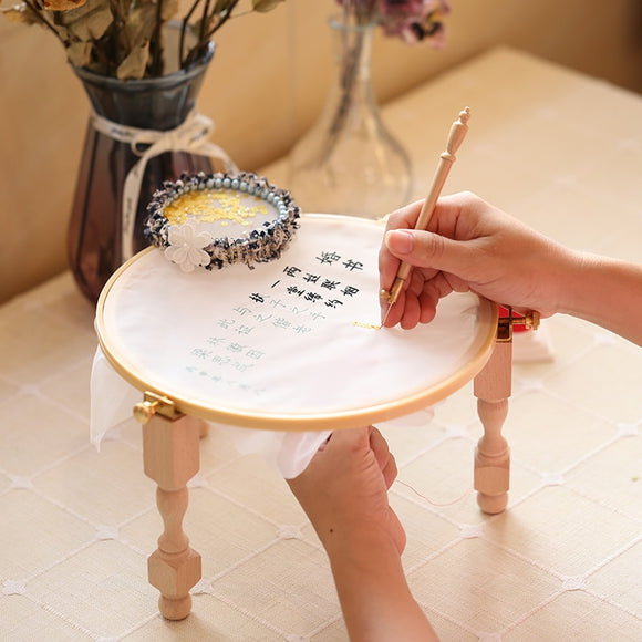 Wood Embroidery/ Cross Stitch Hoop Stand Portable Tool