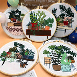 "DIY Embroidery Package Patterns Kits  Beginners kits 8 options - ""Plants Series"""