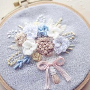 DIY Embroidery Package Patterns Kits  Beginners kits 3 options - 'Beautiful Flowers'