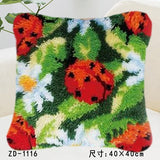 "Patchwork Latch pilowcase kits Needlework thread embroidery ""Flower patterns"" 43x43cm"