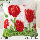 "Patchwork Latch pilowcase kits Needlework thread embroidery ""Flower Plants Series"" 43x43cm"