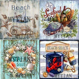 "5D DIY Diamond Embroidery Kits -Full Square/Round Drill ""Sea -beach signs"""