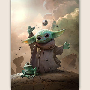 "5D DIY Full square/ round Diamond embroidery ""Little Yoda"""