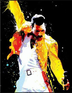 "5D DIY Diamond painting full round/ square drill ""Queen Band Freddie Mercury - set 1"""