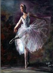"5D DIY Diamond painting full  square drill ""Ballet Dancers'"