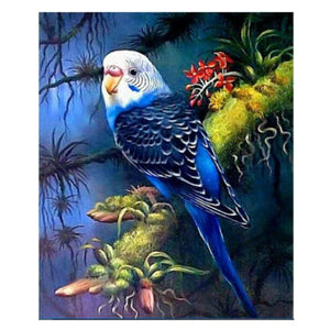 "5D DIY Diamond embroidery Painting Kits -Full Square / Round Drill ""Budgie bird"""