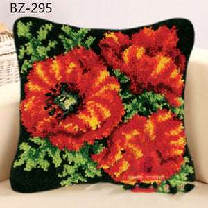"Patchwork Latch pilowcase kits Needlework thread embroidery ""Flowers Plants Series""  43x43cm"