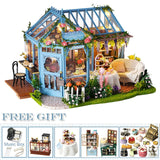 DIY Wooden Doll Houses Miniature &  Furniture Kit 13 options