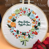 DIY Embroidery Kits Christmas Embroidery Kits For Beginners With Hoop