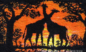 "Latch hook DIY rug kit ""Giraffes "" approx 110x75cm"