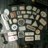 Retro Number Label Stickers for Scrapbooking DIY Projects/ journaling