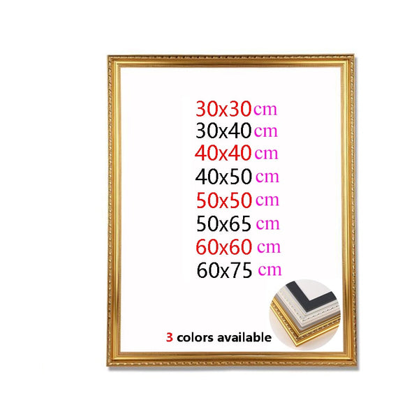Wooden frames suitable for Diamond painting Paint by numbers or photos.