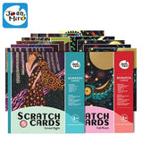1 Set 6pcs 20x15cm Magic Color Scratch Art Paper Colouring Cards
