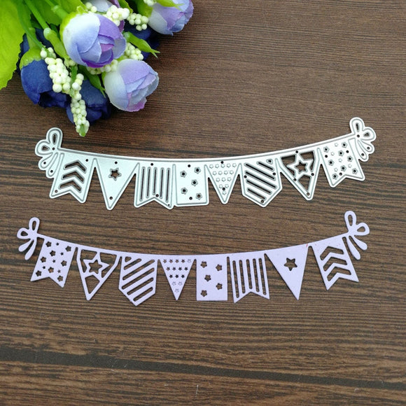 1 Pcs Flag Banner Design Metal Die Cutting Dies Scrapbooking