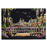 "new  Scratch painting ""Bright City Night View""   World Sightseeing Pictures - Scrap n Patch"