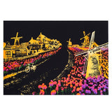 "new Scratch painting ""Bright City Night View"" World Sightseeing Pictures-Scrap n Patch"
