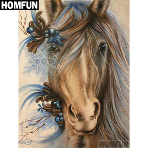 "Full Square/Round Drill 5D Diamond Embroidery Cross Stitch Mosaic ""Horse""-Scrap n Patch"