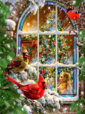 "5D DIY Diamond Painting Embroidery Full round ""CHRISTMAS"" - Scrap n Patch"