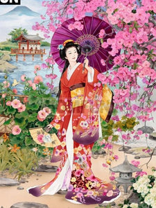 "5D DIY Diamond Painting Full Square/Round Drill  ""Japanese women"" - Scrap n Patch"