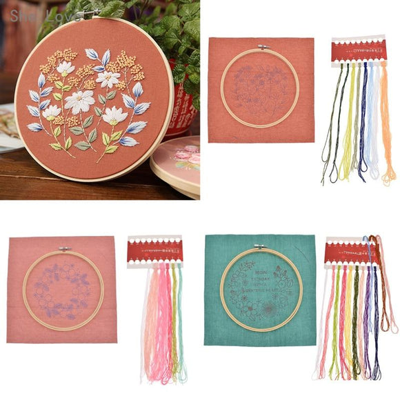 DIY Embroidery Package Patterns Kits  Beginners kits 3 options -