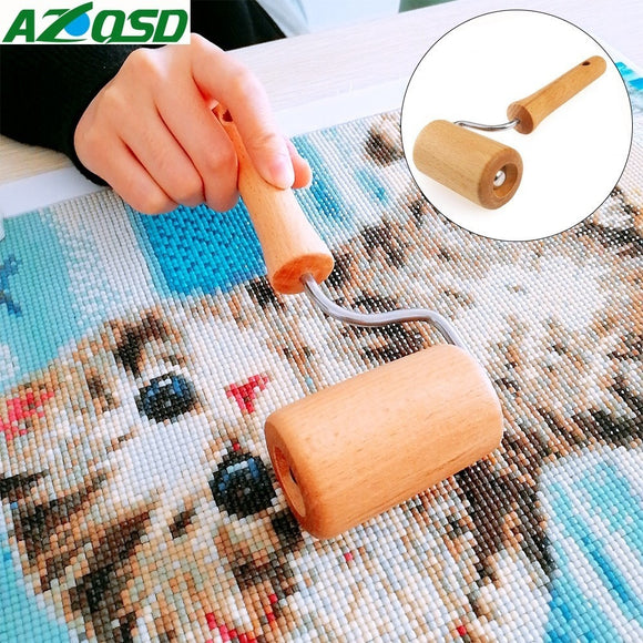 5D Diamond Painting Tool-Wooden Roller Pressing Uneven Diamonds