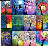 "5D DIY Diamond embroidery Painting Kits -Full Round / square Drill ""Trees set B"""
